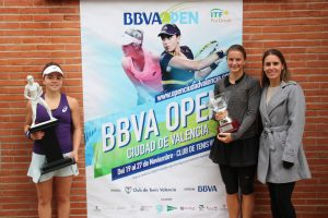 Jasmine Paolini, Quirine Lamoine, Anabel Medina BBVA Open Ciudad de Valencia