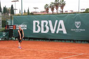 Quirine Lemoine en la final del BBVA Open Ciudad de Valencia